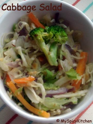 Bowl of Cabbage Salad.